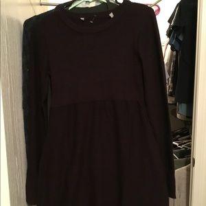 Athleta sweater dress size small, purple and black